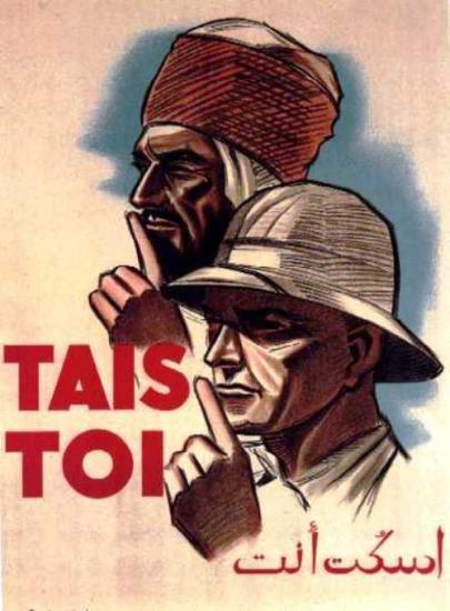 Algerie-affiche-epoque-coloniale tais toi