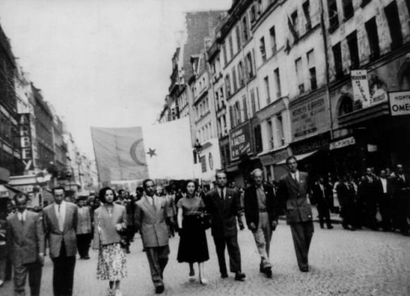 manif paris 14 juillet 1950